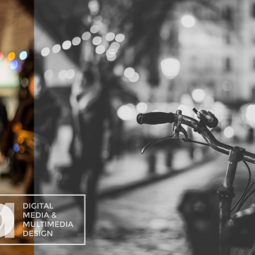BlackWhite-PresentationA1-DigitalMediaMultimediaDesign-GabrielDamato-McFatterTechnicalCollege-Bike