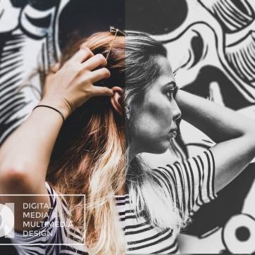 BlackWhite-PresentationA1-DigitalMediaMultimediaDesign-GabrielDamato-McFatterTechnicalCollege-Lady
